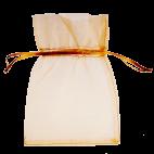 Light gold organza bags