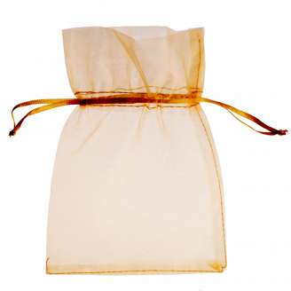 Light gold organza bags